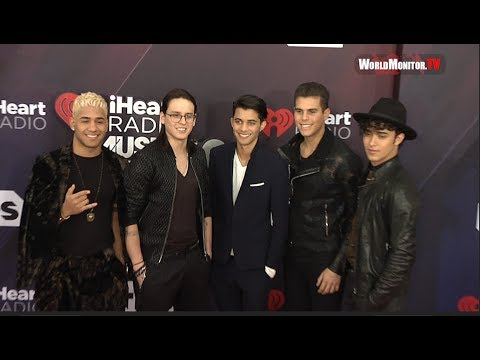 CNCO arrive at 2018 iHeartRadio Music Awards Red carpet