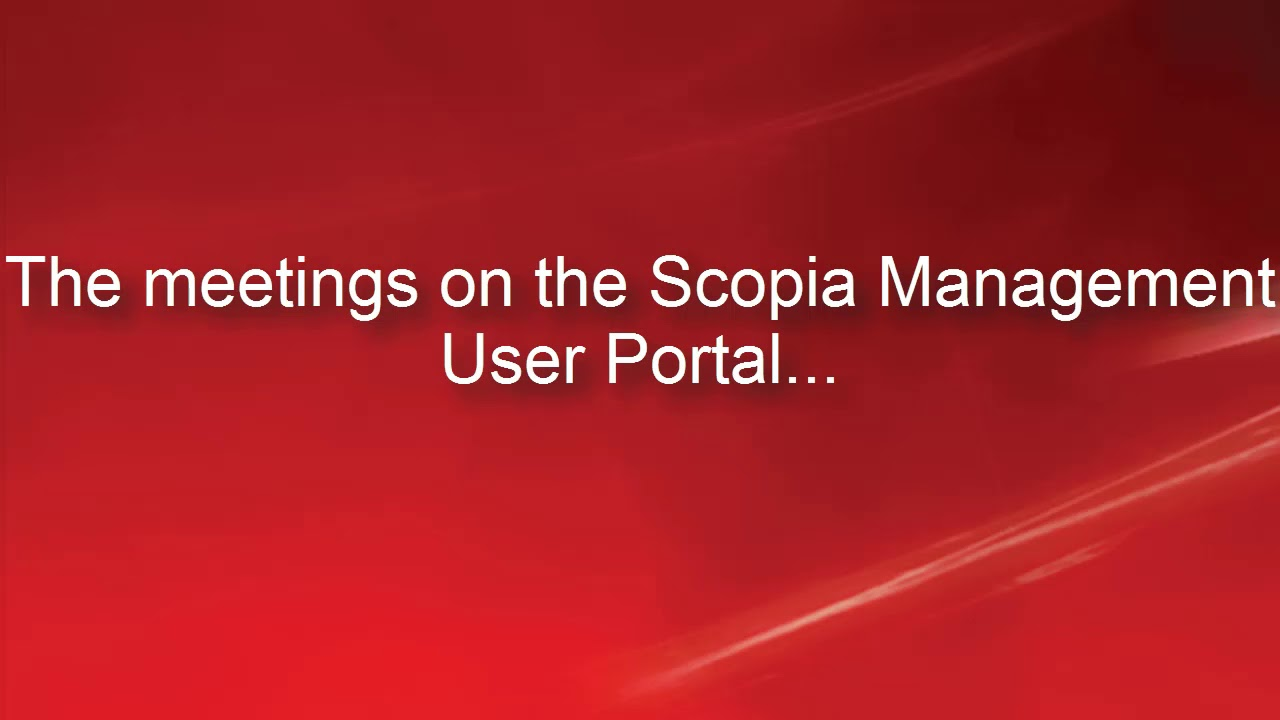 What can you do on Avaya Scopia Management user portal