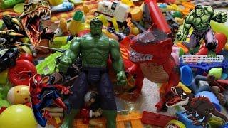 Çizgi Film Kahramanı Hulk ve Dinazor İle Oyuncak Çöplüğü Çocuk Videosu