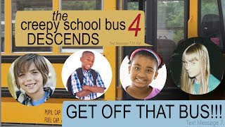 THE CREEPY SCHOOL BUS DESCENDS text story thumbnail