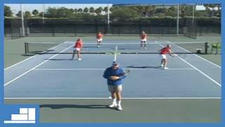 238 Doubles Drill 5 Mini Tennis Doubles with Foam Ball