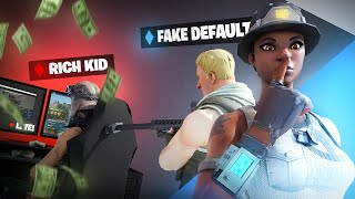 I Stream Sniped a RICH KID as a NO SKIN, then showed my RECON EXPERT... (Fortnite)