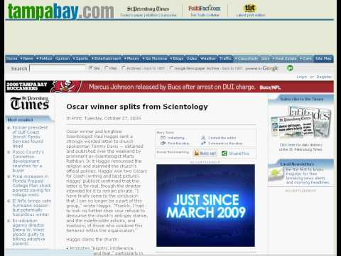 Scientology - a growing religion on the St. Petersburg Times
