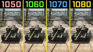 World of Tanks GTX 1050 Ti vs. GTX 1060 vs. GTX 1070 vs. GTX 1080 [4K]