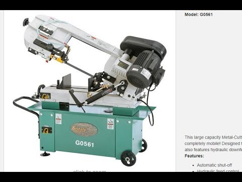 Grizzly G0561 Bandsaw Review/In Action