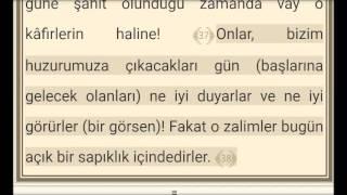 Meryem Suresi Ve Türkçe Meali 2017 Video