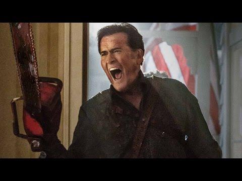 Ash Vs. Evil Dead Bruce Campbell, Lucy Lawless, Sam Raimi Interview - Comic-Con 2015