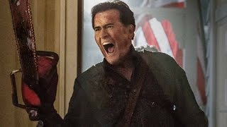 Ash Vs. Evil Dead Bruce Campbell, Lucy Lawless, Sam Raimi Interview - Comic-Con 2015