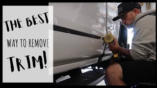 How to remove vehicle trim and adhesive Lambo_Dadd style!