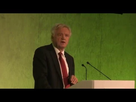 David Davis MP speaks at the Grassroots Out Campaign in London