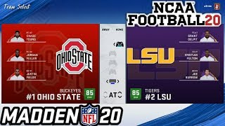 How to Play as COLLEGE FOOTBALL Teams in Madden 20