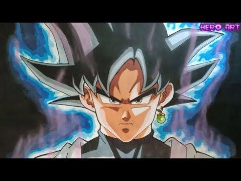 Cách Vẽ Black Goku Ultra Instinct Thật đơn giản bản năng vô cực