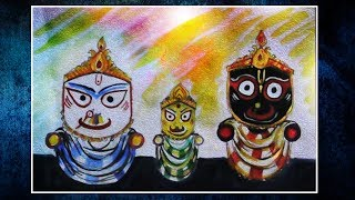 How to Drawing Idols of Lord Jagannath, Balabhadra and Subhadra ||  Puri-Rath Yatra|| Speed Drawing