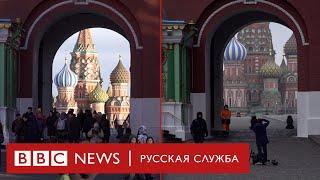 Как выглядит Москва - до и после введения карантина