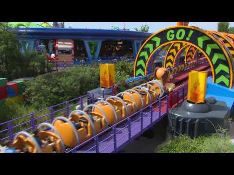 Slinky Dog Dash ROLLER COASTER Preview - Toy Story Land - Disney's Hollywood Studios, Disney World