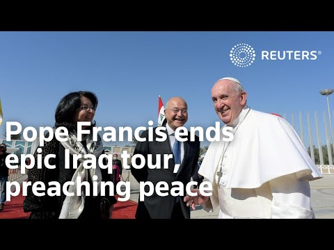 Pope Francis ends epic Iraq tour, preaching peace