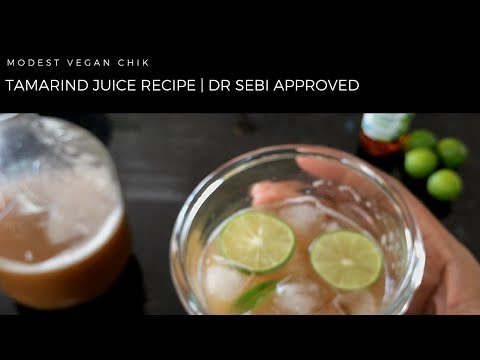 Tamarind Juice Recipe | Alkaline Drink | Dr Sebi Approved
