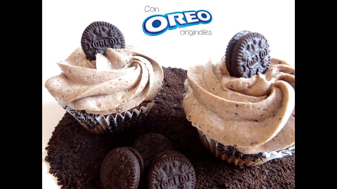Receta de cupcakes de Oreo | Frosting de Oreo  | Magdalenas de Oreo