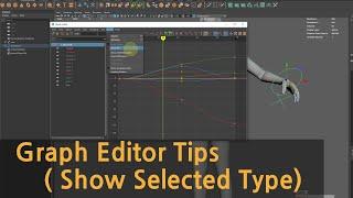 Maya Graph Editor Tips ( Show Selected Type)