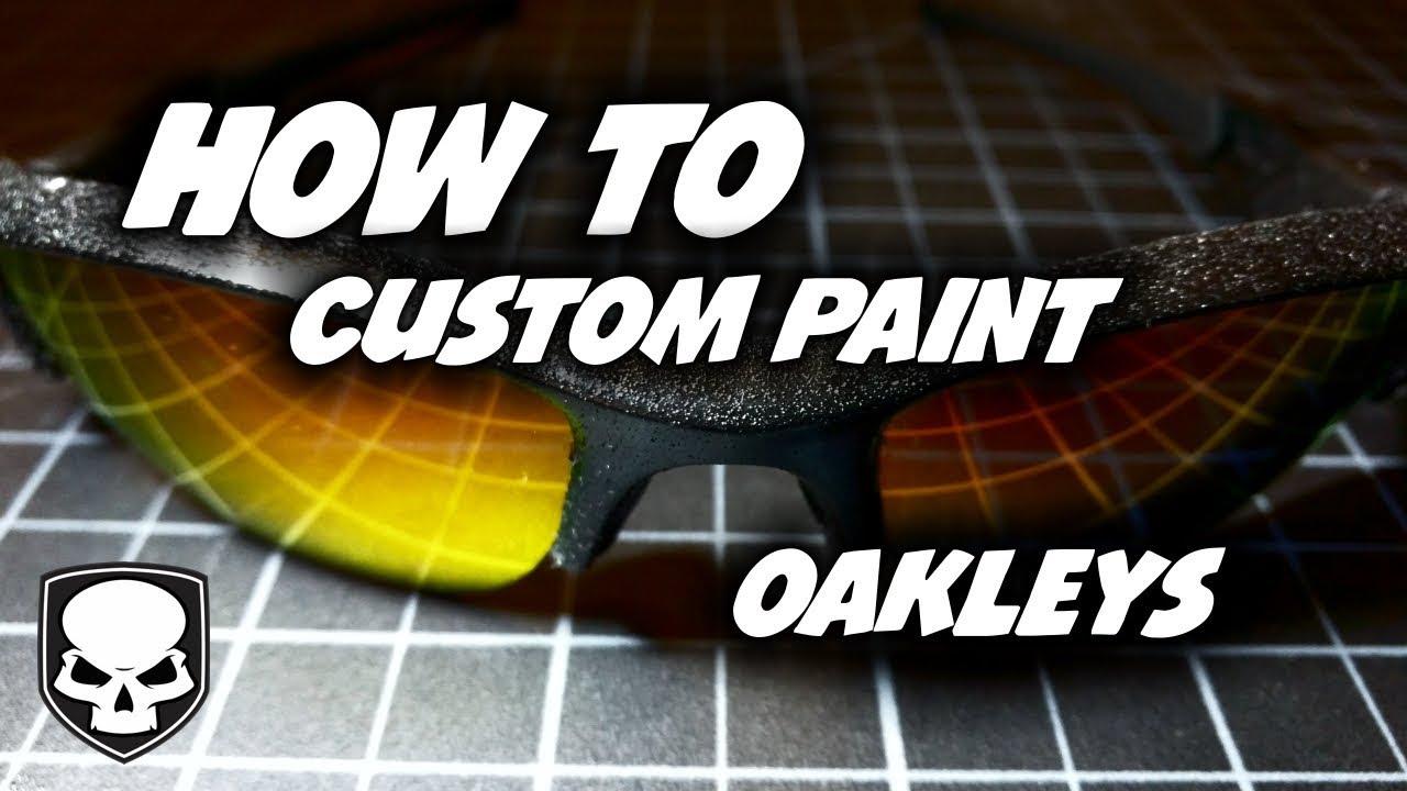 374debd8441 How To Paint Oakleys - Custom Flak Jackets - YouTube