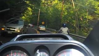 Woman riding a sv 650,  rides wit the Dirty Rider, and DRF, ..in Ashby Mass