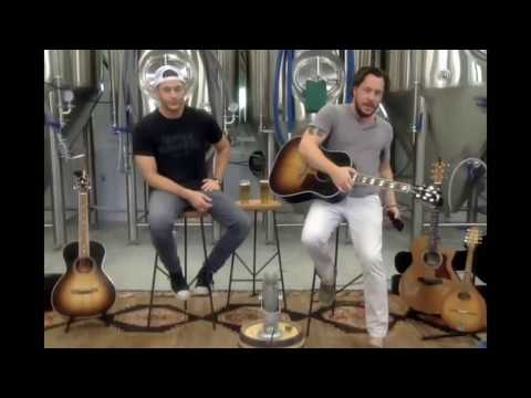 Jensen Ackles & Steve Carlson  stageit concert at the FBBC