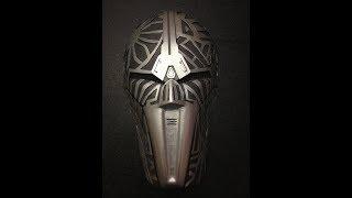 Как сделать маску ситха из Звездные Войны / How to make a sitha mask from Star Wars