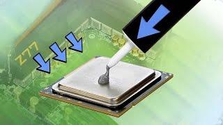 Как правильно нанести термопасту на процессор. Thermal grease to CPU.(Внимание, обязательно прочитать!!!! Ни в коем случае не повторять увиденного в этом видео у себя дома, это..., 2014-10-08T21:37:26.000Z)