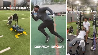 Carolina Panthers SUPER ROOKIE DT Derrick Brown & CB Donte Jackson PUTTING IN WORK!