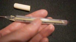 видео Как правильно измерять температуру тела ртутным термометром