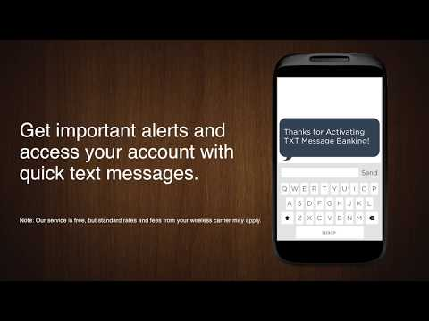 Mobile Text Message Banking from First Financial Bank