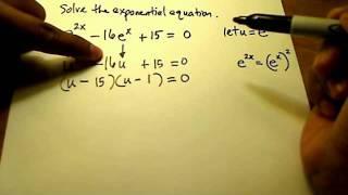 Repeat youtube video Solve Exponential Equation (Quadratic)