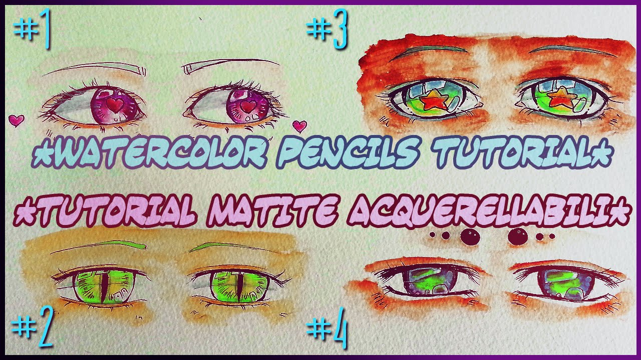 HOW TO USE WATERCOLOR PENCILS DRAW KAWAII FEMALE ANIME
