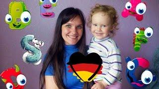 Наш  с дочкой первый урок немецкого. Немецкий для малышей.