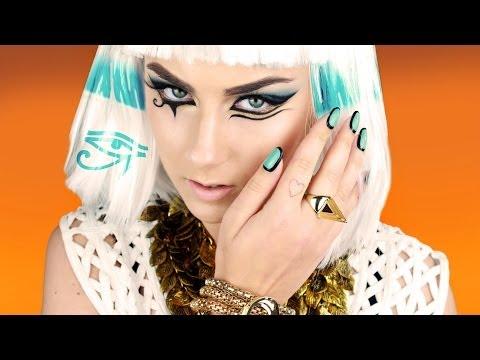 Katy Perry Dark Horse Outfit Skull Makeup Toturial ספיישל פורים: איפור ...