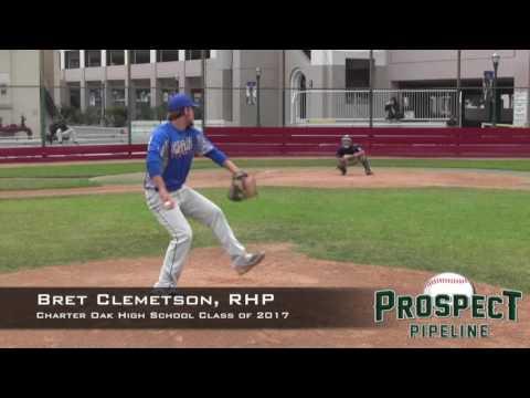 Bret Clemetson Prospect Video, RHP, Charter Oak High School Class of 2017