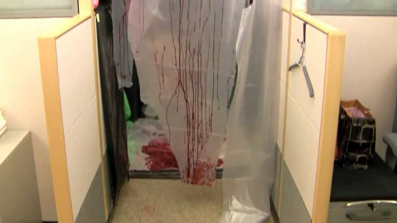 disturbing halloween cubicle (2010 office contest) - youtube