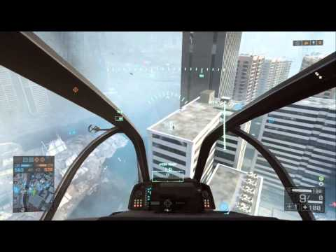 BF4 Attack Helicopter 53-0 Kill streak Flawless Gameplay (Pilot)