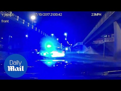 police ram driver off road after high speed chase in leeds daily