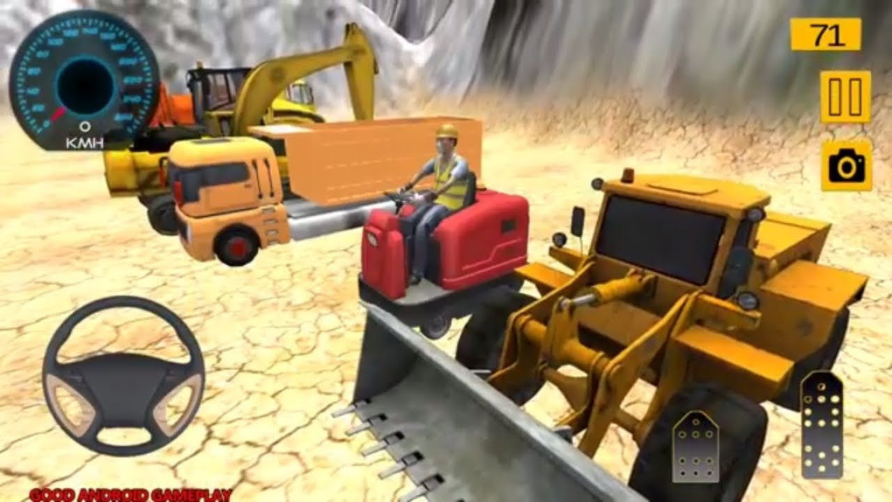real road builder 2018 road construction exacavator truck tree