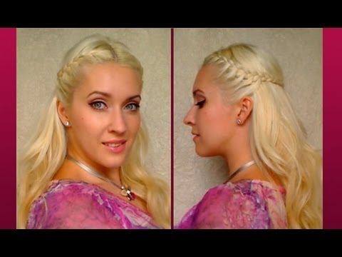 Braided Half Up Half Down With Curls Cute Everyday Hairstyle For