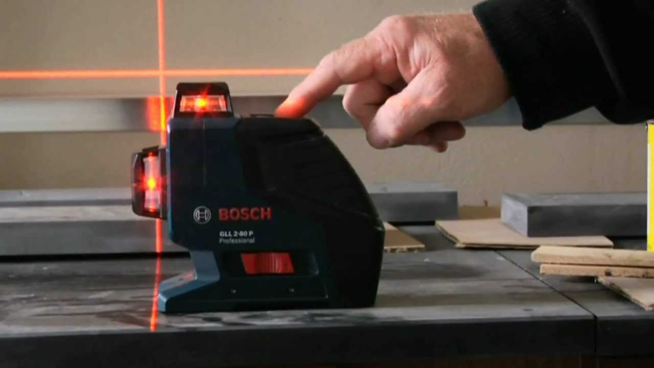 bosch gll2 80p dual plane leveling and alignment laser demo video youtube. Black Bedroom Furniture Sets. Home Design Ideas