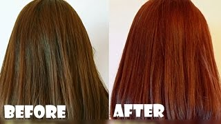 How to Dye Asian or Dark Hair Brown (reddish) 5 - Garnier Olia 5.5 Mahogany Medium brown