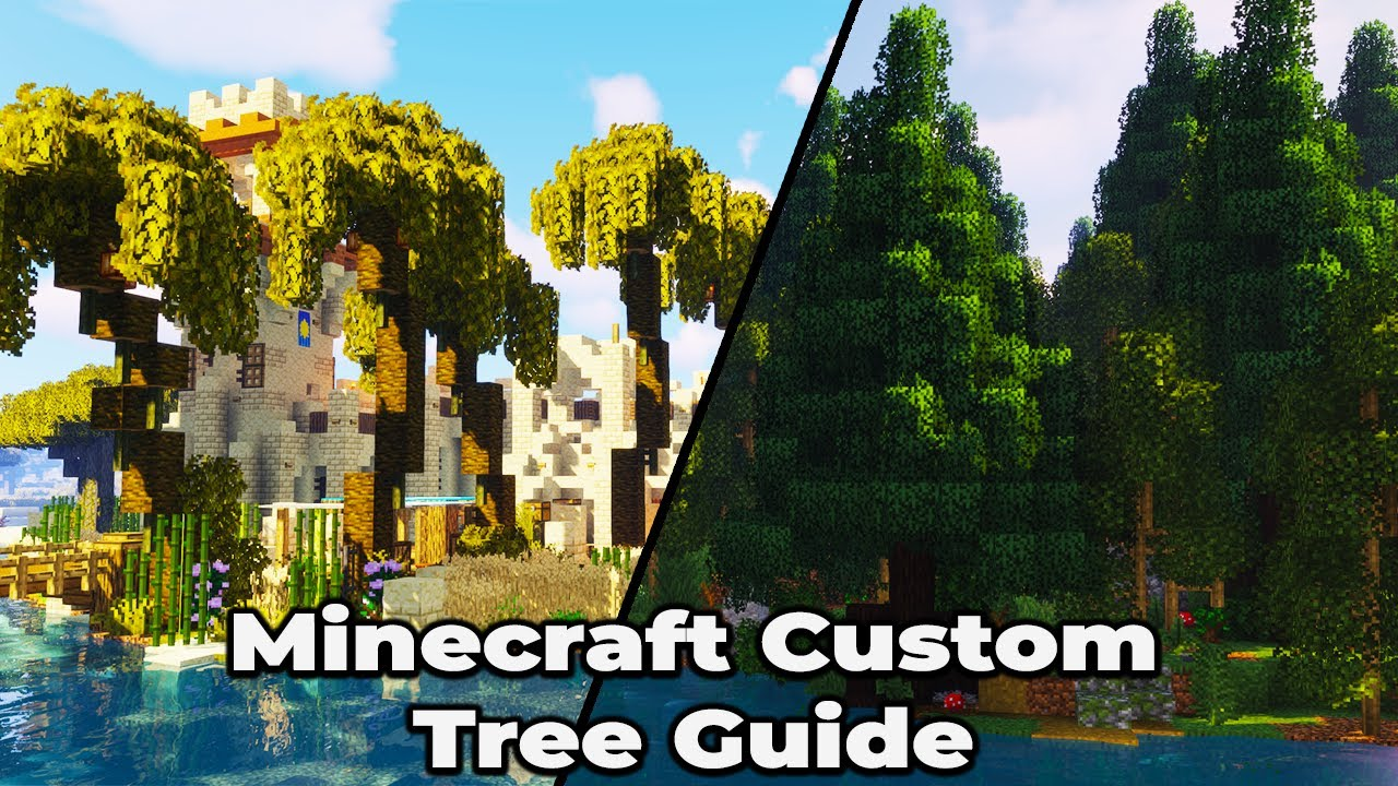 How to build my Custom Trees in Minecraft 10.104 Survival [WORLD DOWNLOAD]