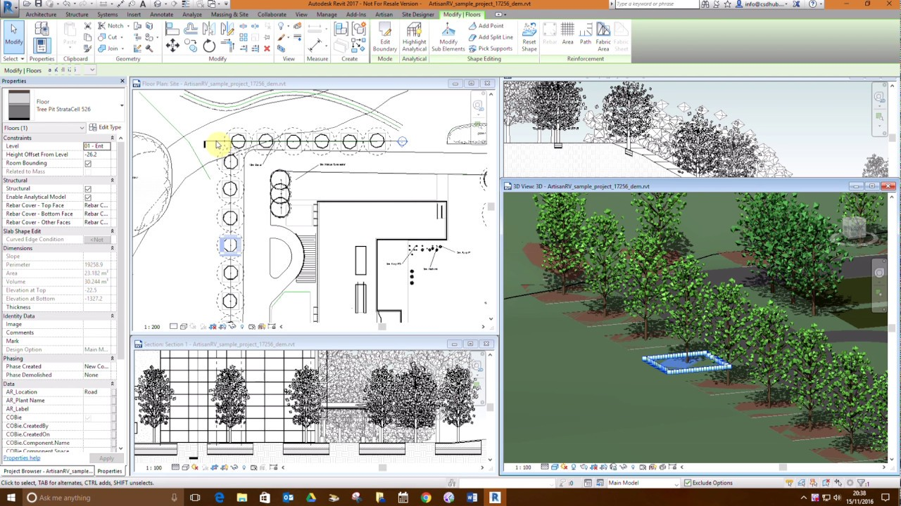 CS ArtisanRV Tree Pits in Revit