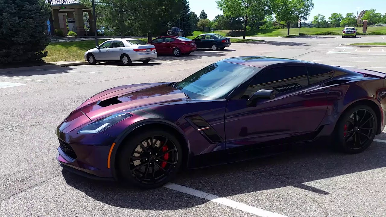 Lynx Customs Gloss Deep Space Wrap 2017 Corvette C7 Grand ...