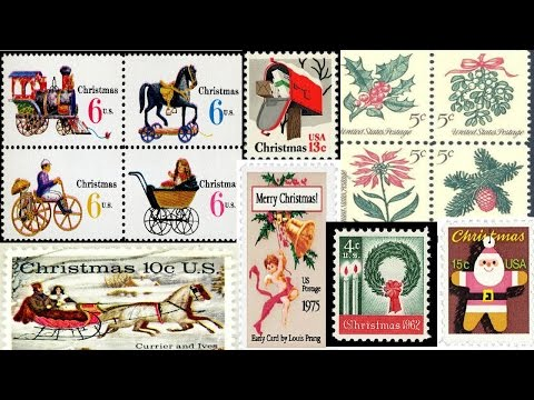 USA Christmas Stamps from 1962 to 2016
