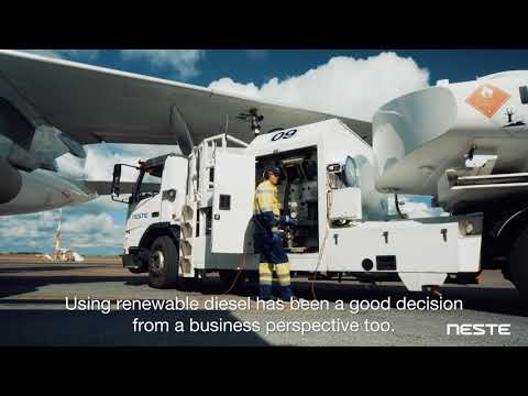 How is Finavia  moving forward with Neste MY Renewable Diesel?