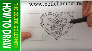 How to Draw Celtic Patterns 140 - Heart shaped interlace Part 1 of 2