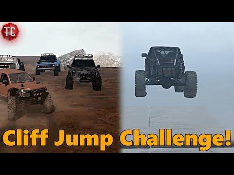 SpinTires MudRunner: CLIFF JUMP BATTLE!